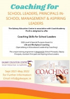 Coaching for School Leaders Programme 2021 2022