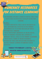 Numeracy Resources for Distance Learning